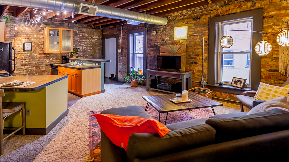 Michigan Ave loft interior